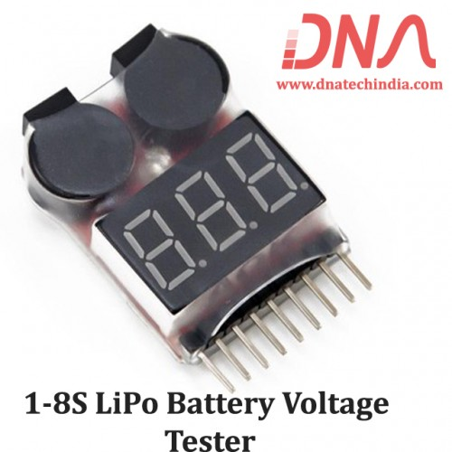 1-8S LiPo Battery Voltage Tester