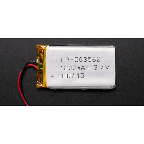 3.7 Volt 1200mAh LiPo Battery