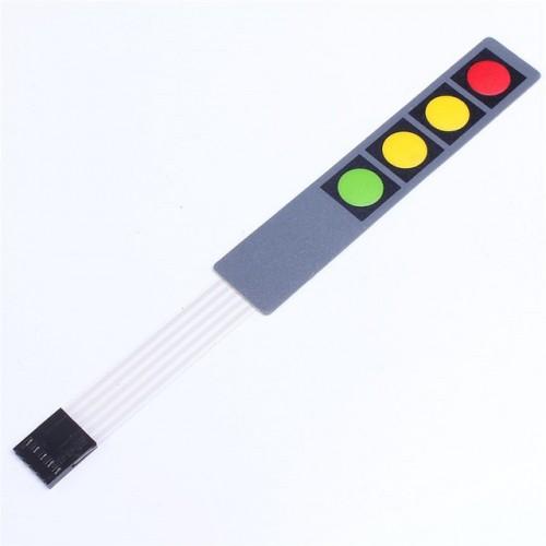 4×1 Key Matrix Membrane Switch Keypad