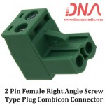 2 Pin Female Right Angle Screwable Plug 5.08mm (Combicon Connector)