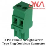 2 Pin Female Straight Screwable Plug 5.08mm (Combicon Connector)
