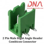 2 Pin Male Right Angle Header 5.08 mm pitch (Combicon Connector)