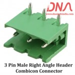 3 Pin Male Right Angle Header 5.08 mm pitch (Combicon Connector)