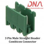3 Pin Male Straight Header 5.08 mm pitch (Combicon Connector)