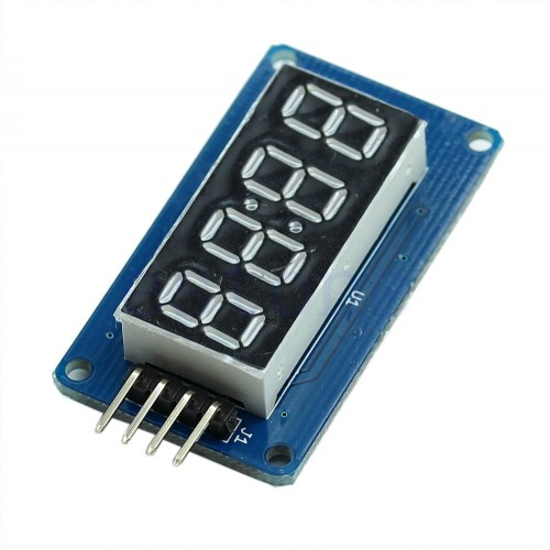 4 Bits Digital LED Tube Clock Display