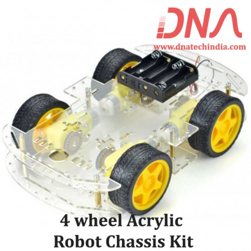 4 wheel Acrylic Robot Chassis Kit