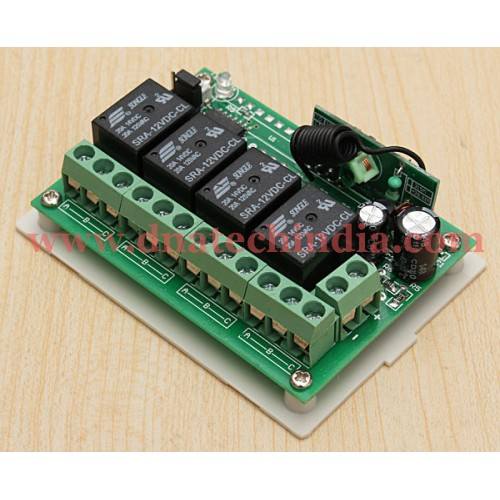 Wireless RF Remote Control Switch 4 Channel