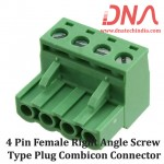 4 Pin Female Right Angle Screwable Plug 5.08mm (Combicon Connector)
