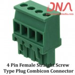 4 Pin Female Straight Screwable Plug 5.08mm (Combicon Connector)