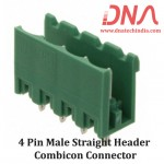 4 Pin Male Straight Header 5.08 mm pitch (Combicon Connector)