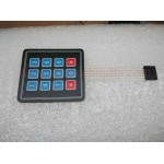 4X3 MATRIX KEYPAD WITH MEMBRANE SWITCHES