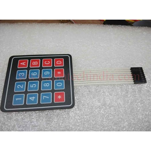 4X4 MATRIX KEYPAD WITH MEMBRANE SWITCHES