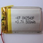 3.7 volt 500mAh LiPo Battery