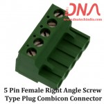5 Pin Female Right Angle Screwable Plug 5.08mm (Combicon Connector)