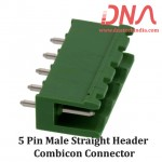 5 Pin Male Straight Header 5.08 mm pitch (Combicon Connector)