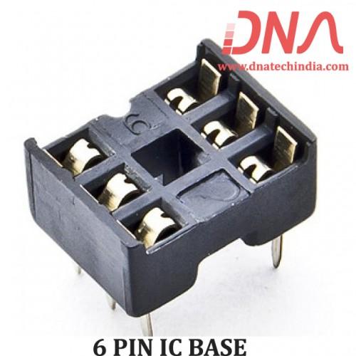 6 PIN IC BASE