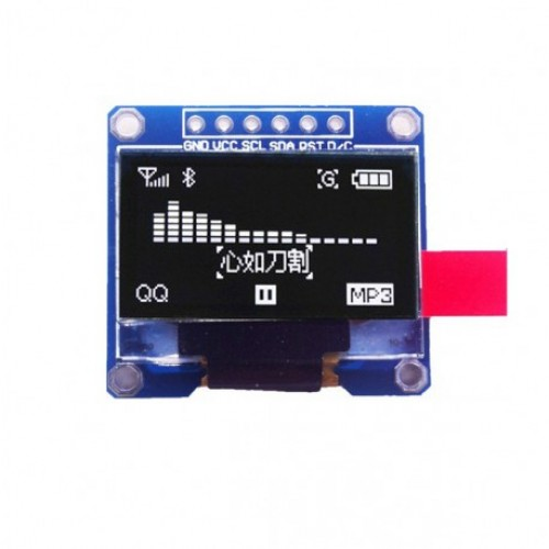 6 Pin 128x64 White OLED Display Module