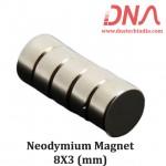 Neodymium Magnet 8mm x 3mm