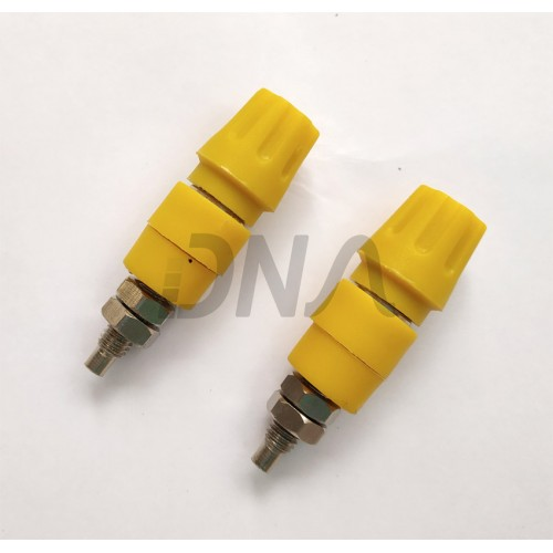 Yellow 4mm female banana  socket (bit15)