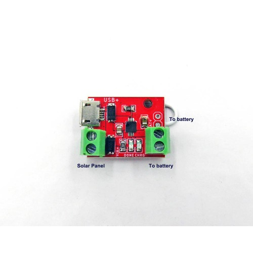 Solar and USB Battery Charger Module