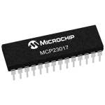 MCP23017 I/O Expander IC with I2C interface
