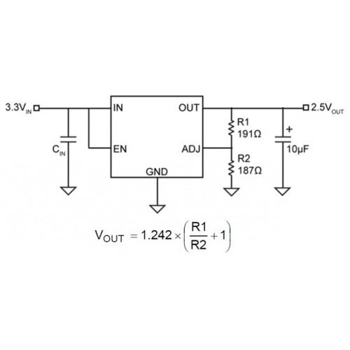 buy online mic29302a adjustable ldo voltage regulator in