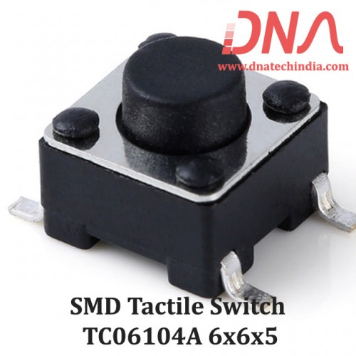 SMD Tactile Switch 6x6x5 (TC 06104A)