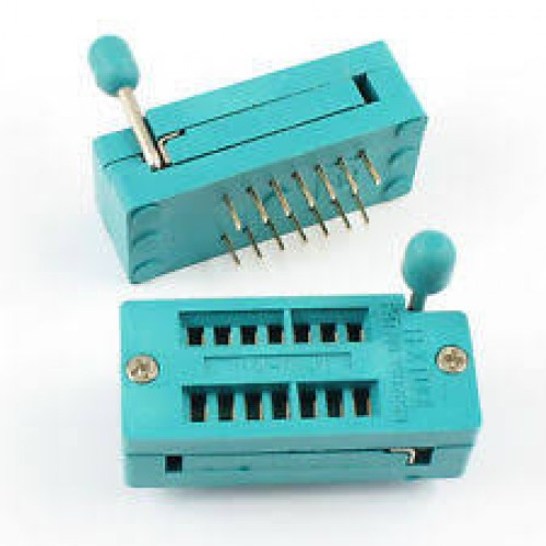 ZIF IC socket 14 pin