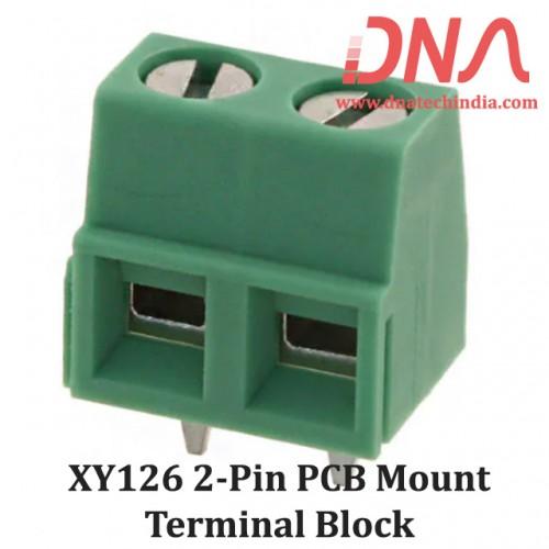 XY126 2 Pin PCB Mount Screwable Terminal Block