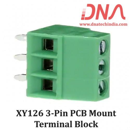 XY126 3 Pin PCB Mount Screwable Terminal Block