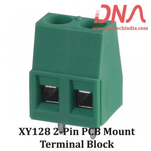XY128 2 Pin PCB Mount Screwable Terminal Block