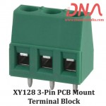 XY128 3 Pin PCB Mount Screwable Terminal Block