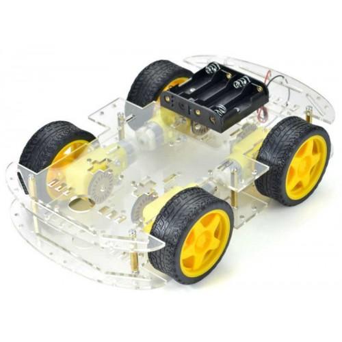 4 wheel Acrylic Robot Chassis Kit