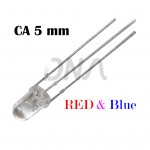 Bi-color CA RED BLUE 5mm LED