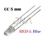 Bi-color CC RED BLUE 5 mm LED