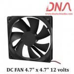 "DC FAN 4.7"" x 4.7"" 12 volts"