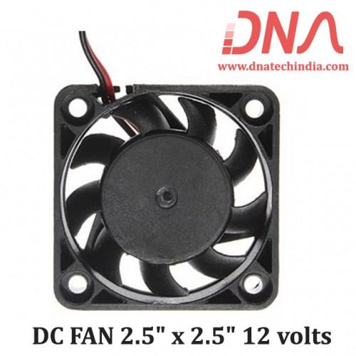 "DC FAN 2.5"" x 2.5"" 12 volts"