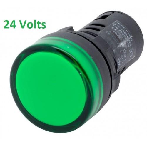 GREEN Panel Indicator 24V