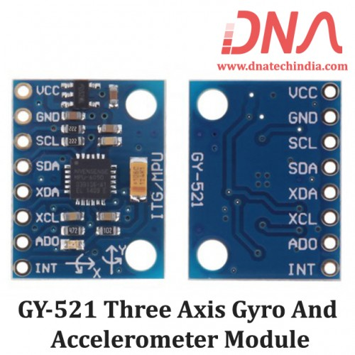 GY-521 Three Axis Gyro & Accelerometer Module