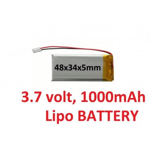 LIPO 3.7 Volt 1000 mAh