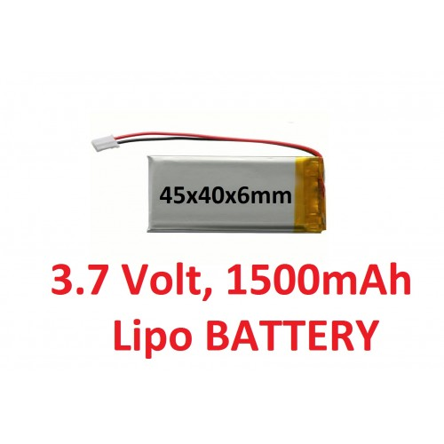 LIPO 3.7 volt 1500 mAh