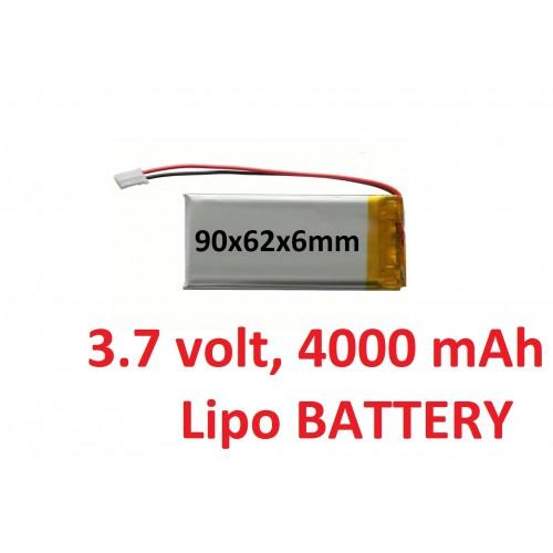 LIPO 3.7 volt 4000 mAh