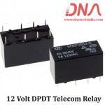 HFD27/0012-S 12 Volt DPDT Telecom Relay