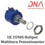 1K Ohm 3590S Helipot Precision Multiturn Potentiometer