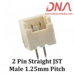 2 Pin 1.25 mm JST Straight Male Connector