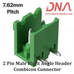 2 Pin Male Right Angle Header 7.62 mm pitch (Combicon Connector)