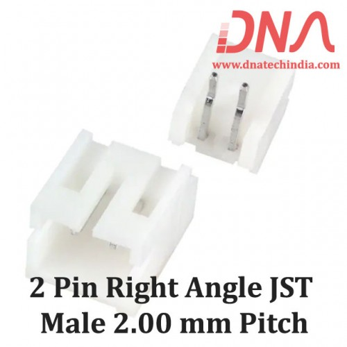 2 Pin 2.0mm JST PH Right Angle Male Connector