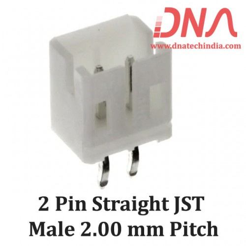 2 Pin 2.0mm JST PH Straight Male Connector