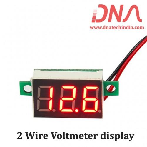 2 Wire Voltmeter display