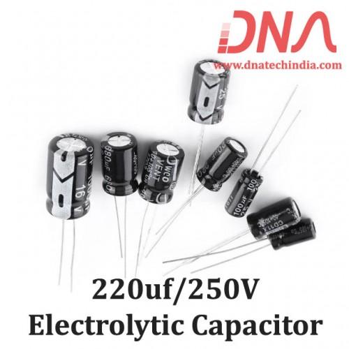 220uf 250V Electrolytic Capacitor